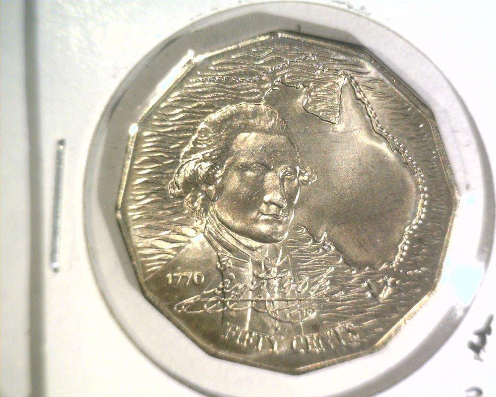 1970 Australia 50 cent coin KM#69 BU Captain Cook