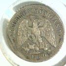 1880 Ho A  Mexico 5 Silver Centavos Coin KM#398.7  XF Condition Second Republic