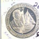 1987 Isle of Man BU Crown Coin Brilliant Uncirculated KM#185 Sailboat Freemantle