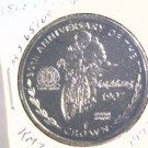 1997 Isle of Man BU Crown Coin Brilliant Uncirculated KM#782 Matchles Motorcycle