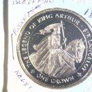 1996 Isle of Man BU Crown Coin Brilliant Uncirculated KM#681 Arthur Lancelot