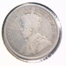 1927 Canada Silver 25 cent coin KM#24a Very Good   .150 ASW
