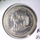 1976 Isle of Man BU Crown Coin KM#38 Horse Drawn Tram Trolley