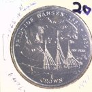 1997 Isle of Man BU Crown Coin Brilliant Uncirculated KM#768 Ship Nansen