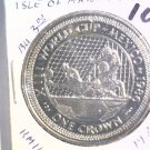 1986 Isle of Man BU Crown Coin Brilliant Uncirculated KM#163 Wold Cup Soccer