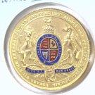 1902 Great Britain Edward VII Coronation Medal Enameled Bronze       Blue Lot