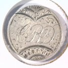 """1882 Love Token on US Seated Liberty Dime Engraved with letters """"C B D""""    Blue"""
