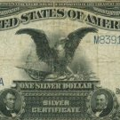 US $1 Silver Certificate Series of 1899 FR#51 Fine Condition