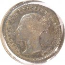 1843 Great Britain Silver 4 pence Coin Groat KM#731.1 .0895 ASW  Blue Lot