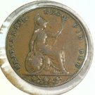 1853 Great Britain Farthing Coin KM#725 Queen Victoria     BLUE Lot
