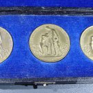 "Weimar Hyperinflation ""Suffering of the German Nation"" 3 Medal Set Original Case"