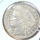 1888 A France SIlver 1 Franc Coin AU  KM#822.1  .1342 ASW  Blue Lot