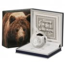 Andorra Silver Proof 5 diners coin   Brown Bear   .999 fine 2010 Limited Edition