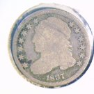1837 Capped Bust Dime About Good Condition