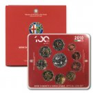 2010 Italy  Official Mint Set  Alfa Romeo 100th Anniversary -  10 Coins   OGP