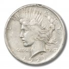 1921 Peace Silver Dollar Very Fine Details   Rim Ding  KEY DATE !