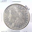 1887 Morgan Silver Dollar Choice Brilliant Uncirculated BU+