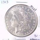 1903 Morgan Silver Dollar Choice Brilliant Uncirculated BU+