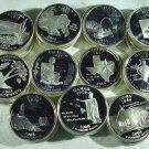 Lot of 50 Silver Proof State Quarters AK, AZ, NM, OK, HI, IL, IA, ME, AL, MO, TX