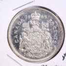 1965 Canada Prooflike Silver 50 cents coin KM#63 .2981 ASW