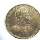 """Andrew Jackson Presidential Bronze Medal 1815 Battle of New Orleans 2-1/2"""" 130 g"""