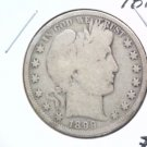 Barber Half Dollar 1899 About Good Condition
