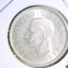 1945 Great Britain Brilliant Uncirculated Silver Shilling coin KM#854  .0903 ASW
