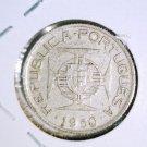1950 Mozambique 2-1/2 Escudos Silver Coin KM#68 Extra Fine Portuguesa Portugal