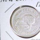 1937 New Zealand Silver Florin Coin KM#10.1 Extra Fine George VI  Kiwi .1806 ASW