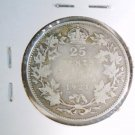 1921 Canada Silver  25 cents KM#24a  .149 ASW