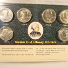 Susan B Anthony UNC Dollar Set of 6  Includes 1979 PDS and 1980 PDS