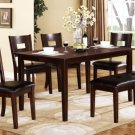 Dark Espresso Finish Dining Set w/ Bench - FREE DELIVERY IN SOUTHERN CALIFORNIA