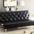 Farel Futon Sofa in White, Gray, Black, or Red w/ Pull Out Cup-Holders - FREE DELIVERY IN CALIFORNIA