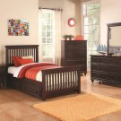 Twin Trundle Bed w/ Spindle Headboard and Footboard & Underbed Storage - FREE DELIVERY IN CA