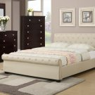 Faux Leather Hazelnut or Black Bed - FREE DELIVERY IN SOUTHERN CALIFORNIA