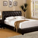 Concord Espresso Leatherette Bed - FREE DELIVERY IN SOUTHERN CALIFORNIA
