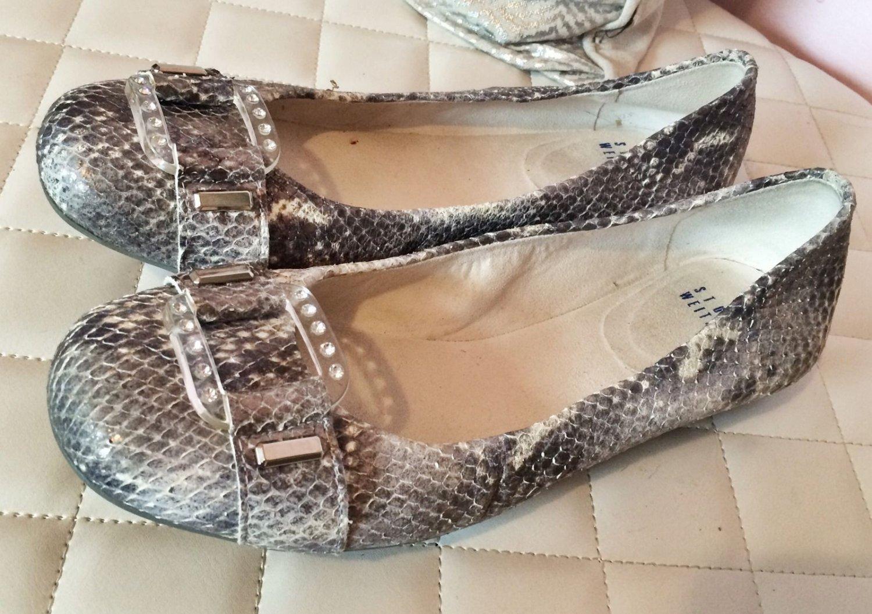 Stuart Weitzman Snake Skin Bling Flats - Size 6.5