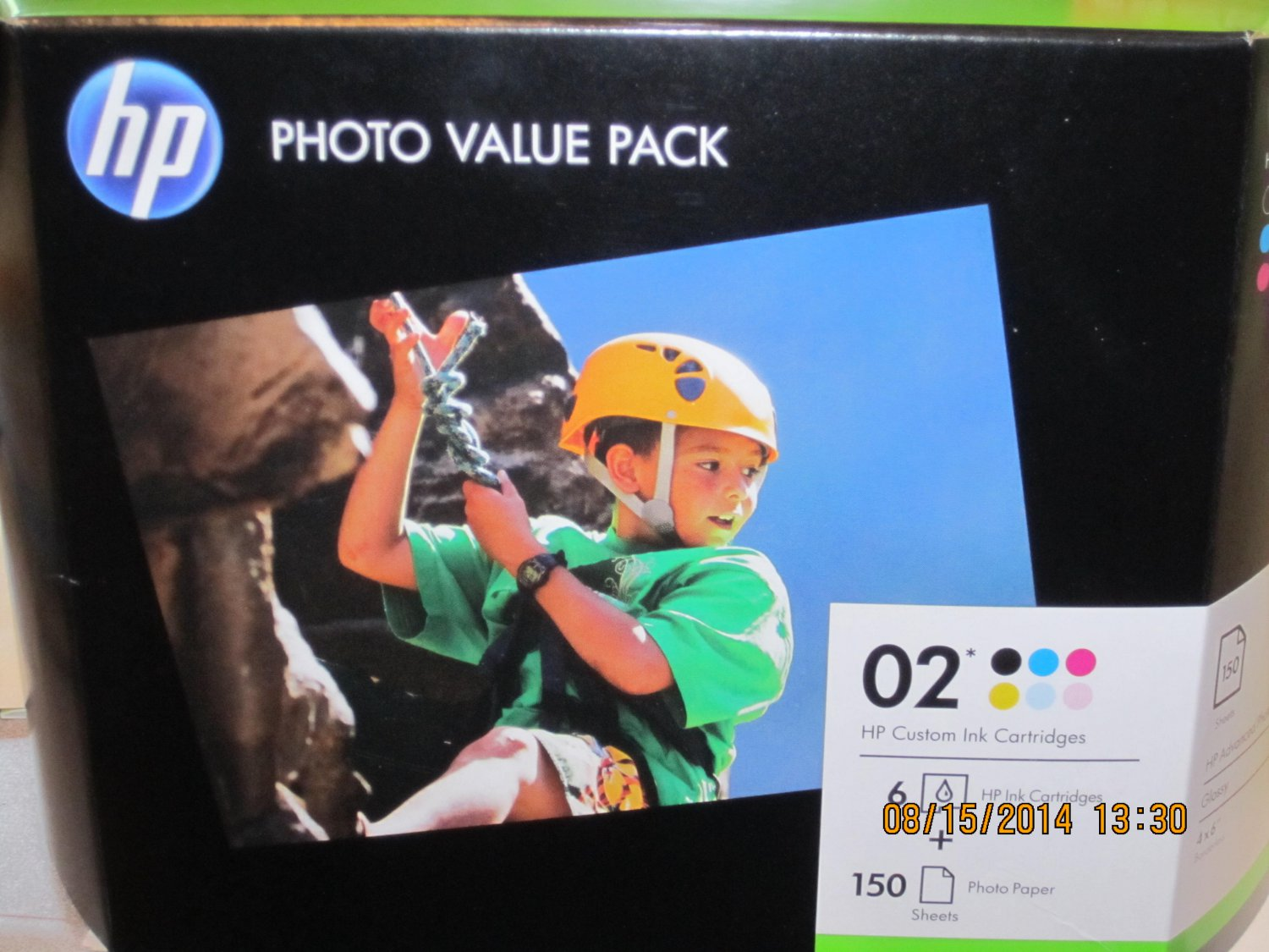 HP 02 Series, 150ct Advanced Photo Value Pack