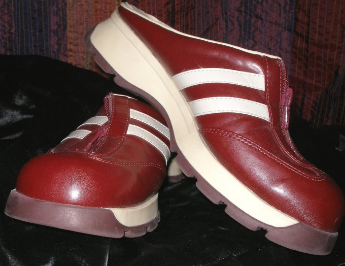 Sporty red backless shoes size 7.5