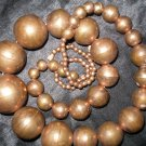 Vintage chunky large bead copper long necklace