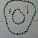 Turquoise Bead Jewelery Set