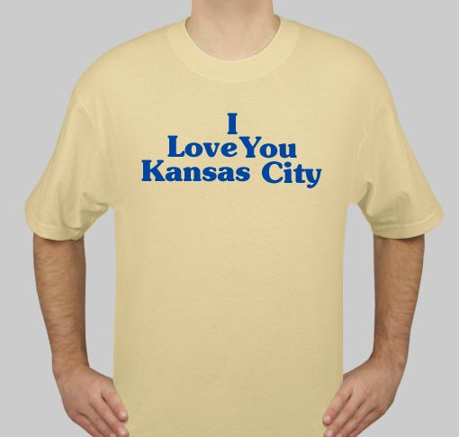 I Love You Kansas City - Mens Gold