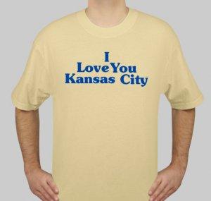 I Love You Kansas City - Mens Gold