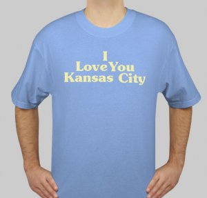 I Love You Kansas City - Mens Blue