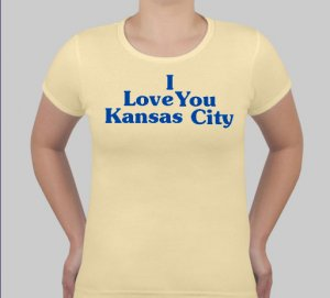 I Love You Kansas City - Womens Gold