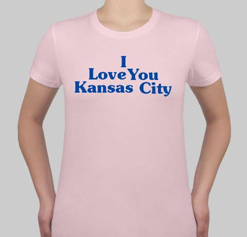 I Love You Kansas City - Womens Pink