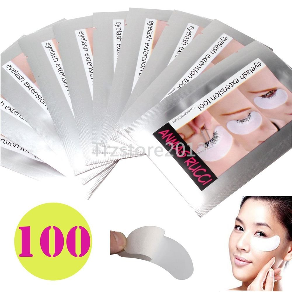 100Pairs Under Eye Pad Patch Lint False Eyelash Eye Lashes Extension Beauty Tool