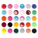30 Multi Color Solid Pure UV Builder Polish Gel Set Nail Art Tips &USPS Shipping