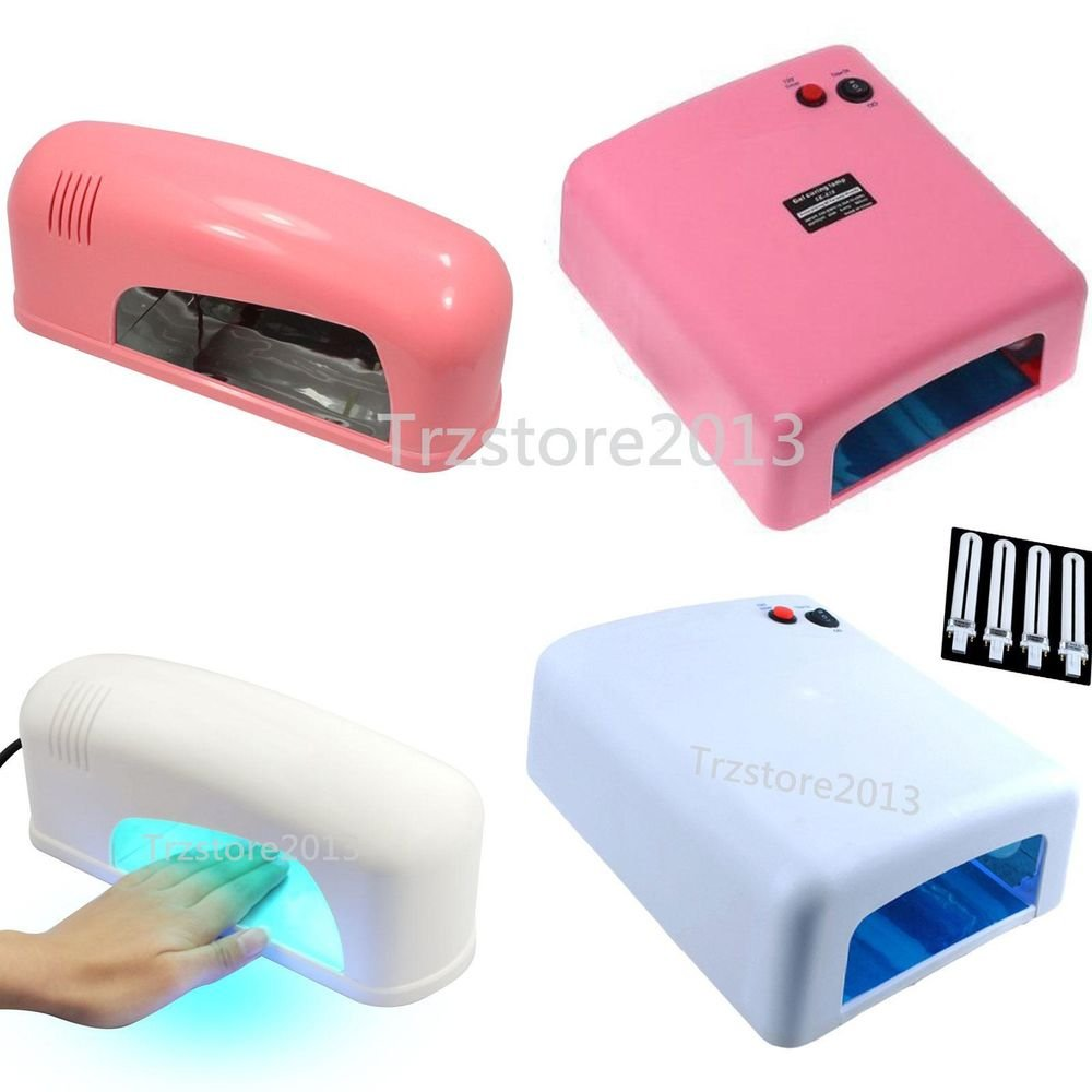 Professional Pink 9W 36W Nail Art UV Color Builder Gel Cure Lamp Dryer Tube Bulb