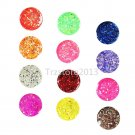 12 PCS Mix Color Hexagon UV Gel Builder Acrylic False Tips Nail Art Kit Set